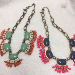 Vintage J Crew statement necklaces circa Fall 2012
